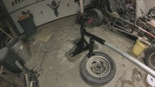 getlinkyoutube.com-How To Build A Homemade Tire Changer From Scrap Metal