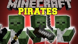 Minecraft: PIRATES (NEW MOBS, PIRATE SHIPS and GUNS!) Pirates Mod Showcase