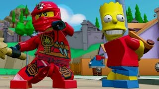 getlinkyoutube.com-LEGO Dimensions - Wave 2 Character Idle Animations (Bart, Krusty, Unikitty, Kai, Cole, The Doctor)