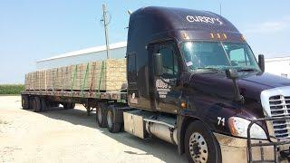 getlinkyoutube.com-6 Amish rough sawn lumber load