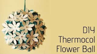 getlinkyoutube.com-Thermocol Crafts - How to make a flower ball