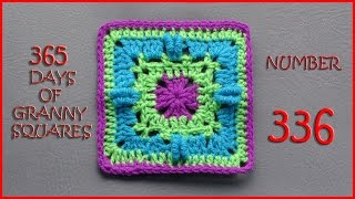 getlinkyoutube.com-365 Days of Granny Squares Number 336