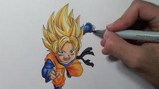 getlinkyoutube.com-Drawing Goten Super Saiyan | SSJ
