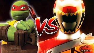 getlinkyoutube.com-Teenage Mutant Ninja Turtles TMNT Vs Power Rangers