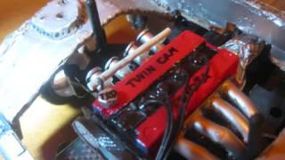 getlinkyoutube.com-1/10 Rc Drift Mazda RX-7 Engine Bay and other stuff Project