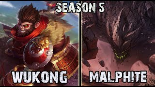 getlinkyoutube.com-Best Wukong NA vs Malphite TOP Ranked Challenger