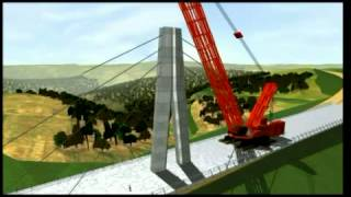 getlinkyoutube.com-3D Visualisation of Millau Viaduct construction
