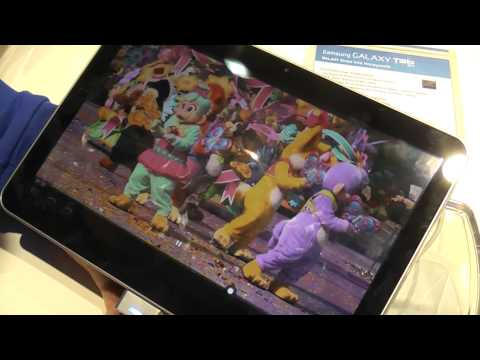 Samsung Galaxy Tab 10.1 Android 3.0 tablet video demo at MWC Barcelona