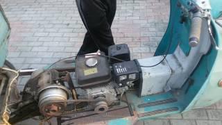 мотороллер с двигателем от мотоблока