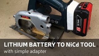 getlinkyoutube.com-DIY: Lithium Battery To NiCd Power Tool (With Simple Adapter)