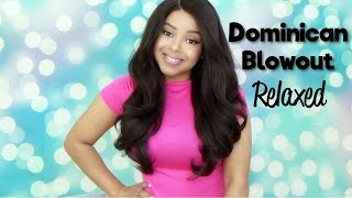 getlinkyoutube.com-BAWDY!!! Outre Dominican Blowout Relaxed Bundle Hair Lace Front Wig