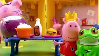 getlinkyoutube.com-Свинка Пеппа Принцесса и заколдованный принц-лягушонок Мультик из игрушек - Серия 68