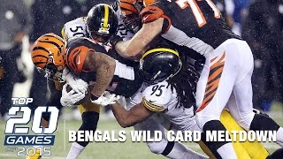 #7: Steelers vs. Bengals (Mic'd Up) | Top 20 Games of 2015 | Inside the NFL