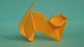 getlinkyoutube.com-Как сделать кошку из бумаги. Оригами кошка. Origami cat
