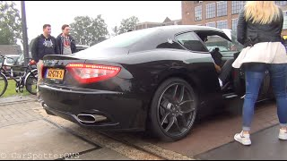 getlinkyoutube.com-Hot Blonde Revving Her Maserati GranTurismo S Loud!