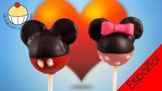 getlinkyoutube.com-¡Paletas de Torta de Minie Mouse! Aprende a Hacer Paletas de Torta de Minie Mouse
