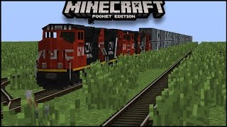 Use Command Block To Make A Working Train in minecraft pe No Addon  | mcpe  minecraft pocket edition