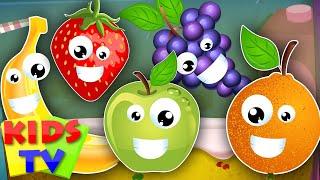 getlinkyoutube.com-five little fruits | learn fruits | fruits song | nursery rhymes | kids songs