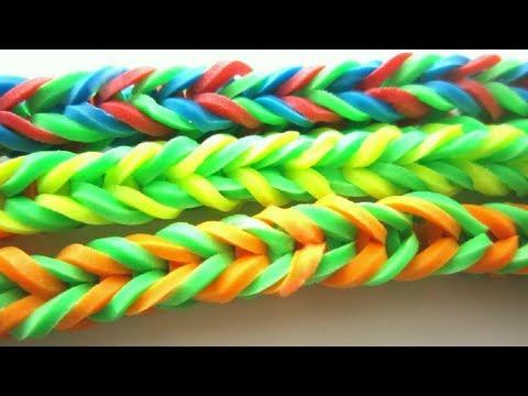 Episodio 656- Cómo hacer brazaletes facilicimos con gomitas , ligas o  bandas y un palito de ropas