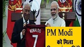 PM Modi को मिला सर्प्राइज़ गिफ़्ट, Ronaldo की टी-शर्ट