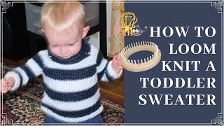 getlinkyoutube.com-How to Loom Knit a Toddler Sweater