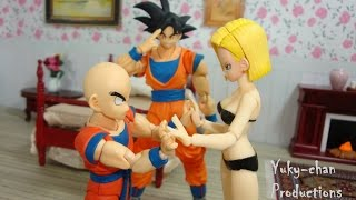 "getlinkyoutube.com-""LUNA DE MIEL"" - Dragon ball crazy (parodia) - Foto comic - stopmotion figuarts - figma"