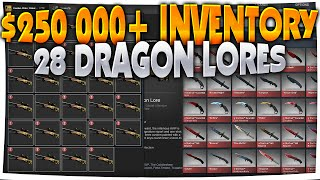 CS:GO - $250,000+ INVENTORY (28 DRAGON LORES, DOPPLERS, HOWLS & MORE)