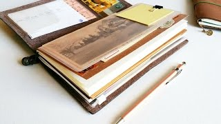 getlinkyoutube.com-How I use my Midori Traveler's Notebook: Vacation Setup
