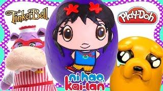 getlinkyoutube.com-Play Doh Ni Hao Kai-Lan JUMBO SURPRISE EGG Toys Adventure Time Doc McStuffins Playdough Eggs by DCTC