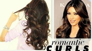 getlinkyoutube.com-★ KIM KARDASHIAN BIG CURLS TUTORIAL | CUTE LONG HAIRSTYLES | HOW TO BLOW-DRY + CURL YOUR HAIR