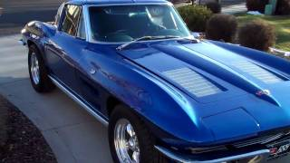 "getlinkyoutube.com-Gunter's restored 1963 Split Window Corvette ""Test drive"""