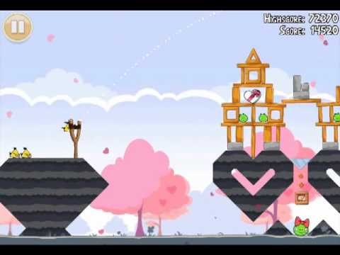 Official Angry Birds Seasons Walkthrough Hogs and Kisses 1-17