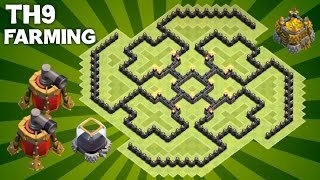 getlinkyoutube.com-Clash of Clans - BEST Town Hall 9 (TH9) Farming Base with 2 AIR SWEEPERS Defensive Layout