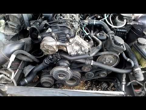 Как правильно снять или одеть ремень привода двигателя M57