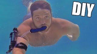 getlinkyoutube.com-Incredible DIY Underwater Breathing Device • Tutorial