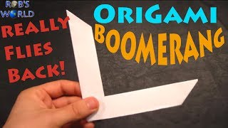getlinkyoutube.com-How to Make an Origami Boomerang - Rob's World