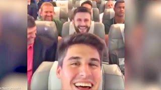 getlinkyoutube.com-Brazilian Football Team Plane Crash Last Video Onboard #FilipeMachado #ForçaChape #Chapecoense