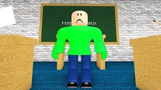 THE SAD STORY OF BALDI.. (Roblox Baldi's Basics)
