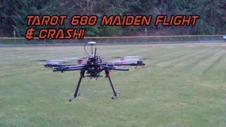 Tarot 680 Maiden Flight & Crash