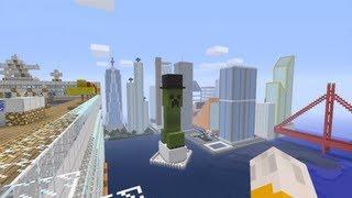 Minecraft Xbox - The City Outskirts - Newport City Tour - Part 3