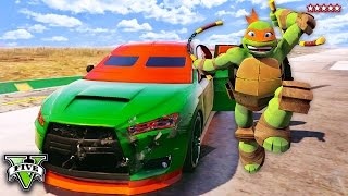 getlinkyoutube.com-GTA 5 TEENAGE MUTANT NINJA TURTLES - Raphael Is Missing! EPIC GTA TMNT Montage (GTA 5 Funny Moments)
