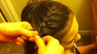 getlinkyoutube.com-Side French Braid Hair Tutorial **For Beginners**