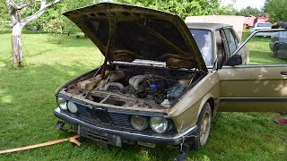 Starting 1981 BMW E28 520i After 9 Years (1080p)