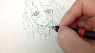 getlinkyoutube.com-Drawing shiro no game no life (real time drawing)