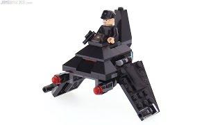 getlinkyoutube.com-LEGO Star Wars Microfighters Krennic's Shuttle review! 75163