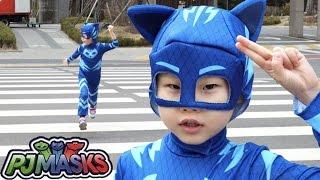 슈퍼라임 고양이가 아파요! 파자마삼총사 캣보이로 변신 출동! ❤︎ 콩순이 병원에 엘사의 의사놀이 pj masks Transform Superhero real life라임튜브