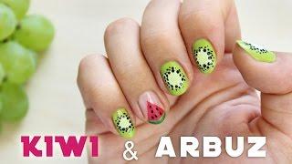getlinkyoutube.com-♦ Wzorki na paznokcie - kiwi i arbuz na lato ♦