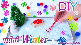 getlinkyoutube.com-How To Make A Miniature Winter Zen Garden – DIY Stress-Relieving Desk Decoration