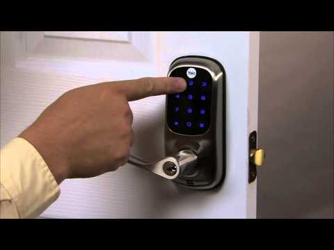 Yale Real Living Touchscreen Lever Lock Programming - Volume Setting 07