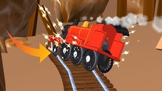 getlinkyoutube.com-Thomas and Friends: Magical Tracks - Train Catch Fire Very Dangerous & Protection - Part 7